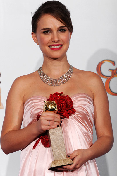 natalie portman golden globe video. Natalie Portman#39;s intense