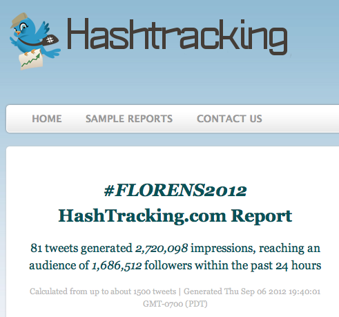 #Florens2012 became a trending topic in Europe with millions of online impressions for the international cultural arts event in Florence, Italy.