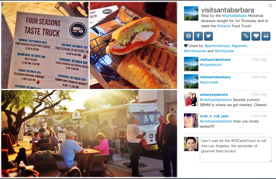 The FS Taste Truck makes a stop at the Santa Barbara Historical Museum cultivating community one bite at a time.